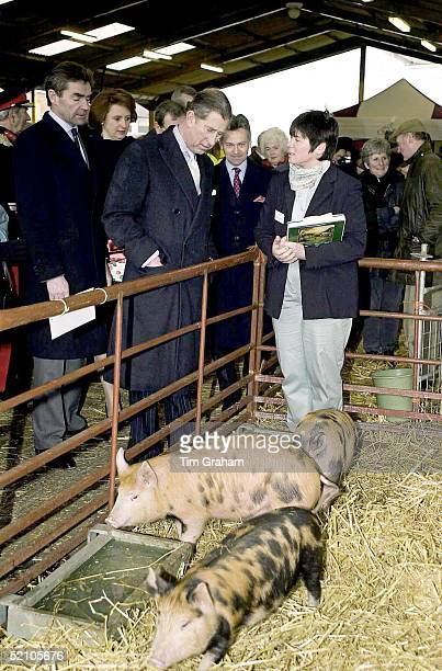 Prince Charles Visiting The Farmers Market In Melton Mowbray Leicestershire