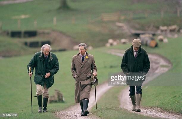Prince Charles Walking At Penbedw Farm, North Wales, Where He Attended A Private Lunch And Discussion With Local Farmers.