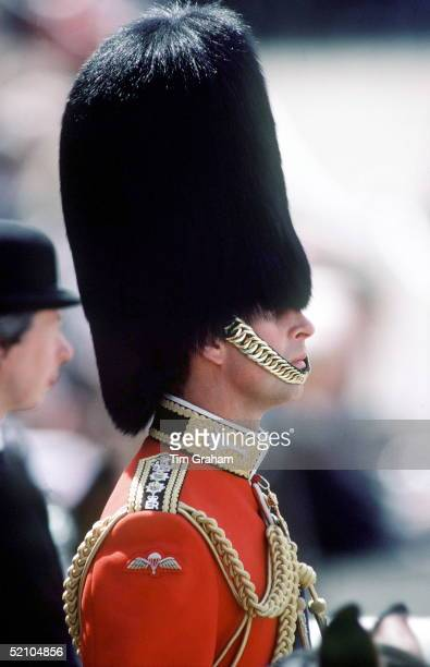 Prince Charles Wearing A Busby At Trooping The Colour