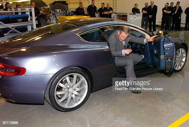 Prince Charles Who Has Been A Fan Of Aston Martin Sports Cars Since He Had His First As A Gift For His 21st Birthday Had A Chance To Try Out The New...