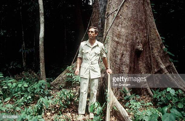 Prince Charles Whose Interest In The Survival Of The Rainforests Has Been Well Reported Wearing A Safari Suit Visiting The Rainforest In The Cameroon