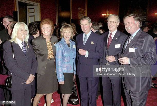 Prince Charles With Actress Wendy Richards Singer Cilla Black Television Personality Esther Rantzen Actor Nicholas Parsons And Radio Host Terry Wogan...