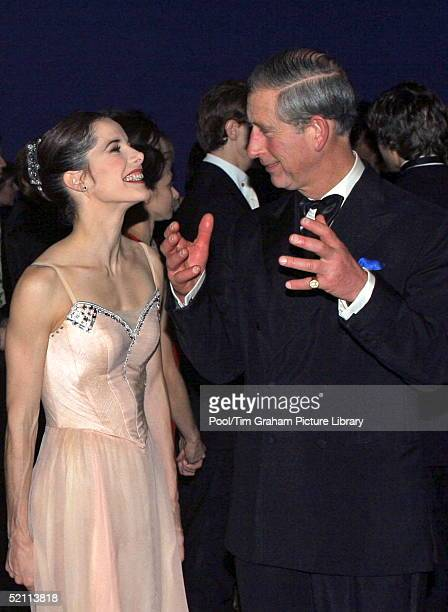 Prince Charles With Darcey Bussell After A Winter Gala Performance Of Opera And Ballet At The Royal Opera House, London.