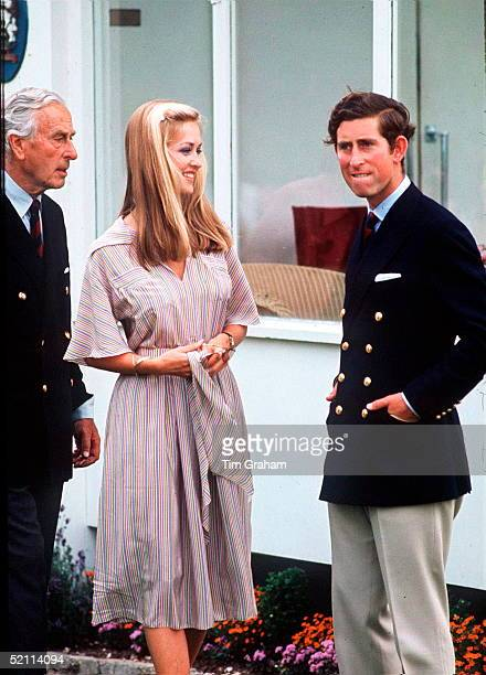Prince Charles With Earl Mountbatten And Penelope Eastwood who Became Lady Penelope Romsey When She Later Married Norton Knatchbull Lord Romsey At...
