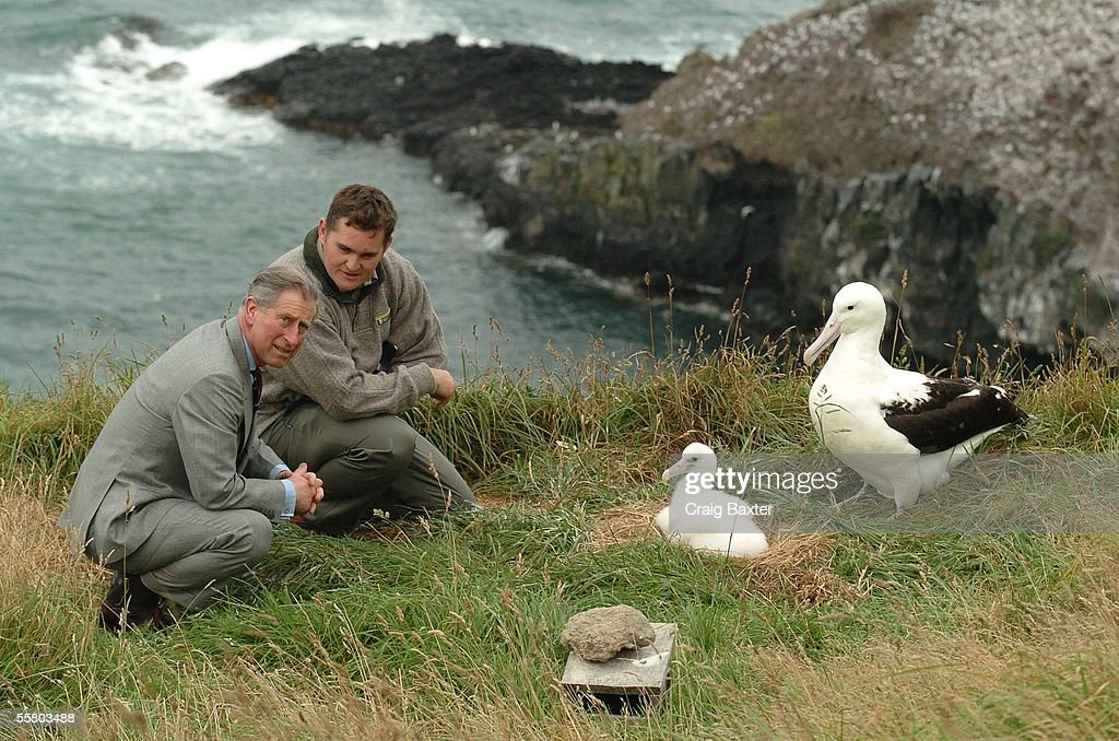 HRH Prince Charles with head ranger Lyndon Perrima : News Photo