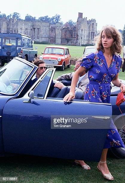 Prince Charles With His Girlfriend, Sabrina Guinness, Arriving At Cowdray Park For A Polo Match.in His Aston Martin Db5 Volante Convertible Sports...