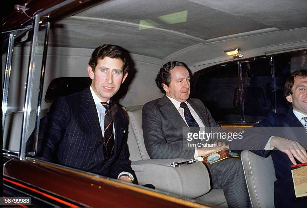 Prince Charles with his Private Secretary Squadron Leader David Checketts in the 1970s