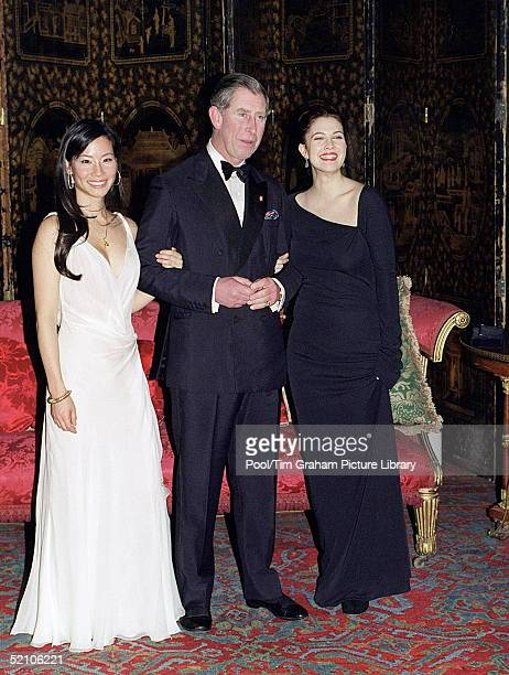 Prince Charles With Lucy Liu And Drew Barrymore At St James's Palace. Both Actresses Star In The New Film Version Of 'charlie's Angels' Which Has Its...