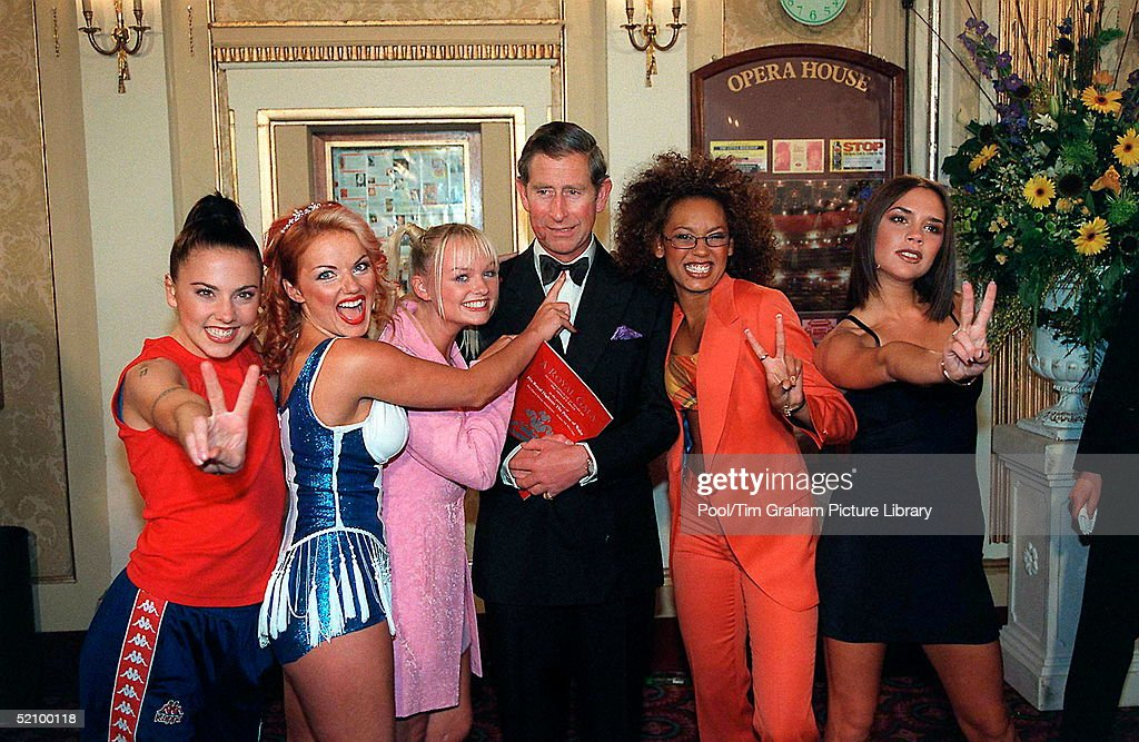 Charles And Spice Girls : News Photo