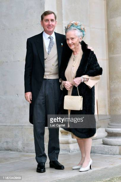Prince CharlesHenri de Lobkowicz and his mother Princess Edouard De Lobkowicz attend the Wedding of Prince JeanChristophe Napoleon and Olympia Von...