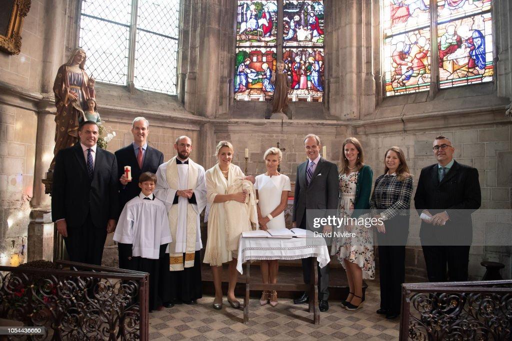 Christening Of Princess Jacinthe Of Orleans In Dreux : ニュース写真