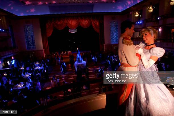 Prince Charming and Cinderella models attends the Cinderella Royal Ball In Honor of DVD Launch at The Waldorf Astoria on October 2 2005 in New York...