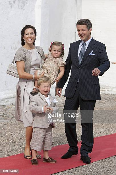Prince Christian And Princess Isabella Attend The Christening Of Prince Henrik Carl Joachim Alain At Mogeltonder Church In Mogeltonder Denmark