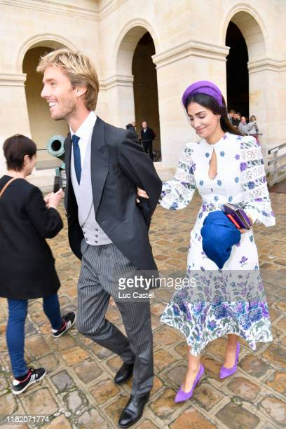 Prince Christian de Hanovre and his wife Princess Alessandra de Osma attend the Wedding of Prince JeanChristophe Napoleon and Olympia Von...