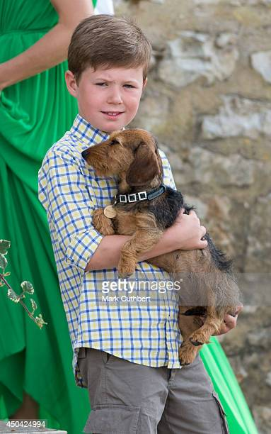 Prince Christian of Denmark attending a Photocall at Chateau de Cayx on June 11, 2014 in Luzech, France.