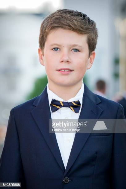 Prince Christian of Denmark attends the 18th birthday celebration of Prince Nikolai at royal ship Dannebrog on August 28, 2017 in Copenhagen, Denmark.