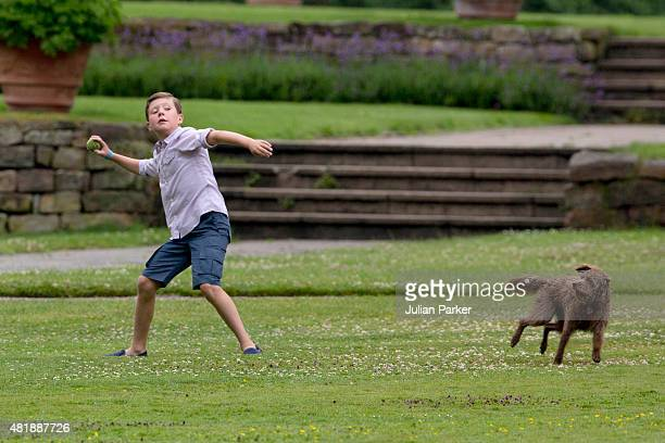 Prince Christian of Denmark attends the annual summer Photocall for The Danish Royal Family at Grasten Castle on July 25 2015 in Grasten Denmark