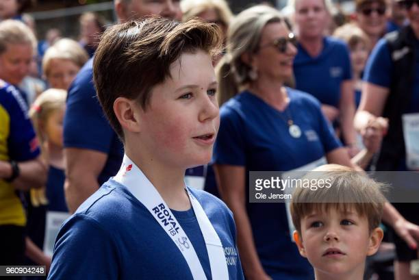 Prince Christian of Denmark during the running event Royal Run on the occasion of the 50th birthday of Crown Prince Frederik on May 21, 2018 in...