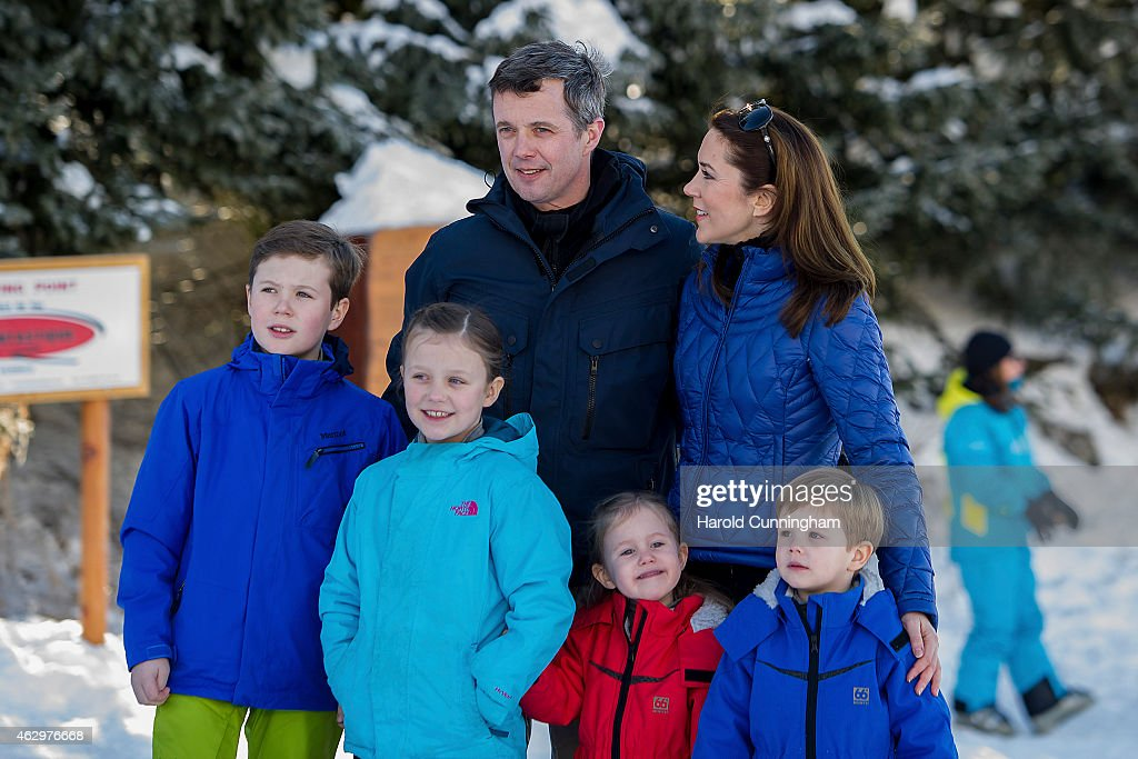 The danish royal family hold annual skiing photocall in verbier prince christian of denmark princess isabella of denmark crown prince frederik of denmark sciox Image collections