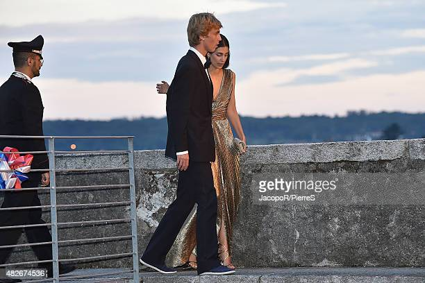 Prince Christian of Hanover and Alessandra de Osma are seen on August 1 2015 in ANGERA Italy