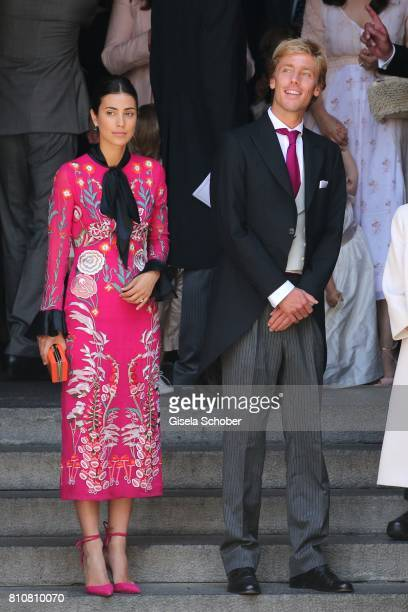 Prince Christian of Hanover and his fiancee Alessandra de Osma leaves the wedding of Prince Ernst August of Hanover Duke of BrunswickLueneburg and...
