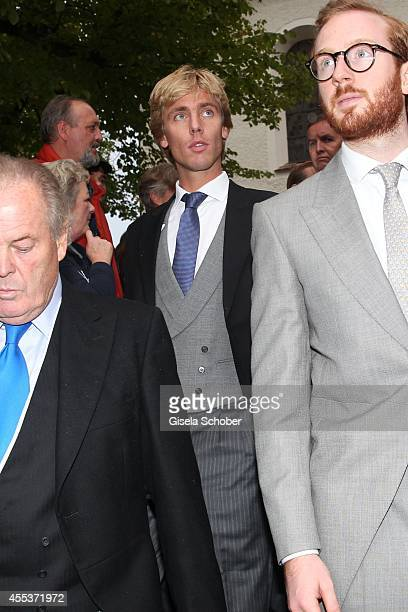 Prince Christian von Hannover attends the wedding of Maria Theresia Princess von Thurn und Taxis and Hugo Wilson at St Joseph Church in Tutzing on...