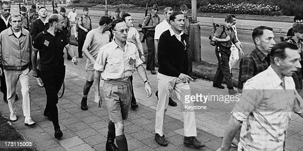Prince Claus of the Netherlands taking part in an annual fourday march Nijmegen Netherlands 25th July 1967 The march is an international event for...