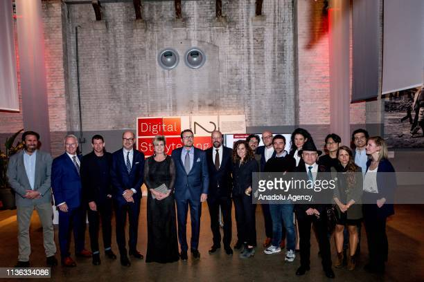 Prince Constantijn and Princess Laurentien of the Netherlands meet the nominees to the World Press Photo of the Year World Press Photo Story of the...