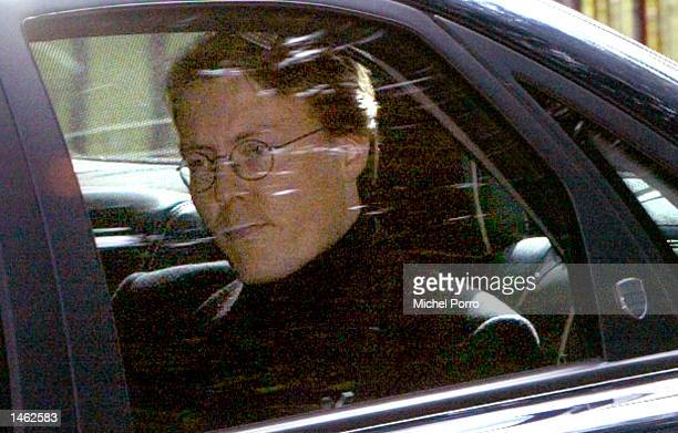 Prince Constantijn is seen the way to the hospital to accompany the hearse carrying his father Prince Claus of the Netherlands husband to Dutch Queen...