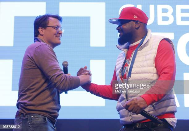 Prince Constantijn of the Netherlands and Dennis Coles known as Ghostface Killah Rapper with WuTang Clan Bitcoin investor and CoFounder of CREAM...