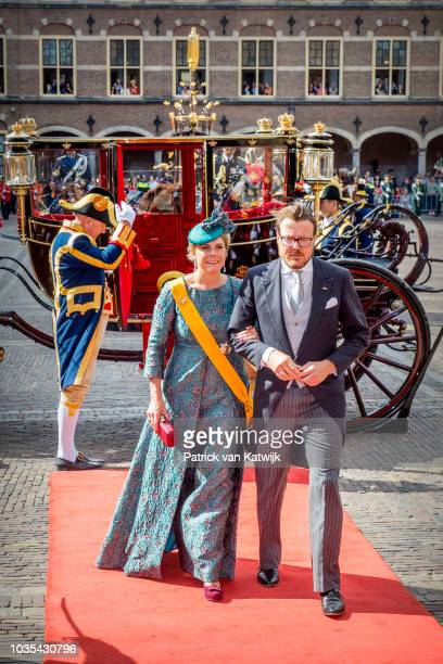 Prince Constantijn of The Netherlands and Princess Laurentien of The Netherlands during the opening of the parliament year Prinsjesdag on September...