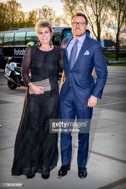 Prince Constantijn of The Netherlands and Princess Laurentien of The Netherlands attend the World Press Photo Award ceremony on April 11 2019 in...