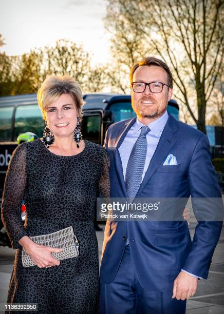 Prince Constantijn of The Netherlands and Princess Laurentien of The Netherlands attend the World Press Photo Award ceremony on April 11, 2019 in...