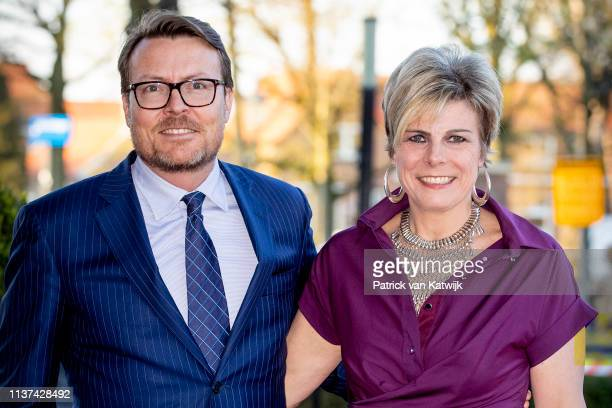 Prince Constantijn of The Netherlands and Princess Laurentien of The Netherlands arrive at Theater De Flint for the Kingsday Concert on April 15,...