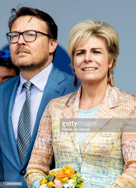 Prince Constantijn of The Netherlands and Princess Laurentien of The Netherlands attend the Kingsday Celebration on April 27, 2019 in Amersfoort,...