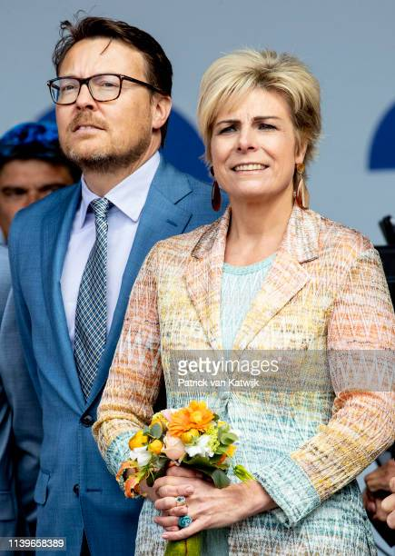 Prince Constantijn of The Netherlands and Princess Laurentien of The Netherlands attend the Kingsday Celebration on April 27 2019 in Amersfoort...