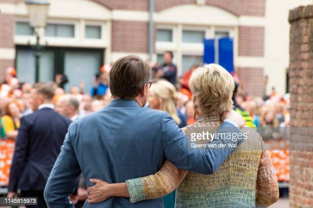 Prince Constantijn of the Netherlands and Princess Laurentien of the Netherlands of the Netherlands walking arm in arm during their visit to the city...