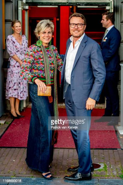Prince Constantijn of The Netherlands and Princess Laurentien of The Netherlands attend the 80th birthday celebration of Princess Irene in theater...