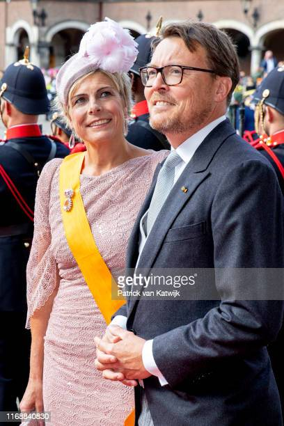Prince Constantijn of The Netherlands and Princess Laurentien of The Netherlands during Prinsjesdag the opening of the parliamentary year on...