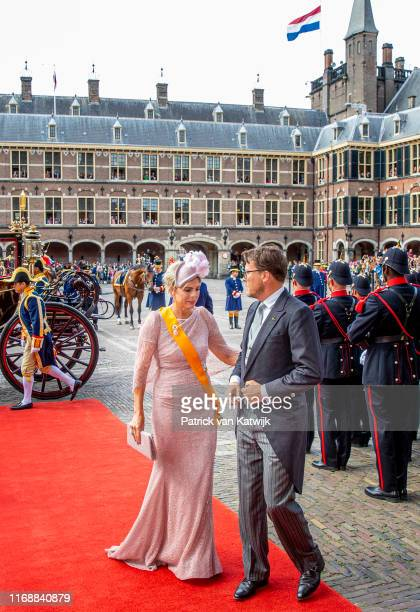 Prince Constantijn of The Netherlands and Princess Laurentien of The Netherlands during Prinsjesdag, the opening of the parliamentary year, on...