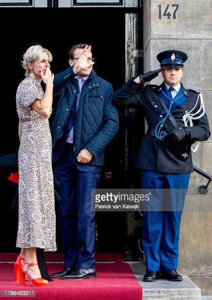Prince Constantijn of The Netherlands and Princess Laurentien of The Netherlands attend the Prince Claus Award ceremony in the Royal Palace on...