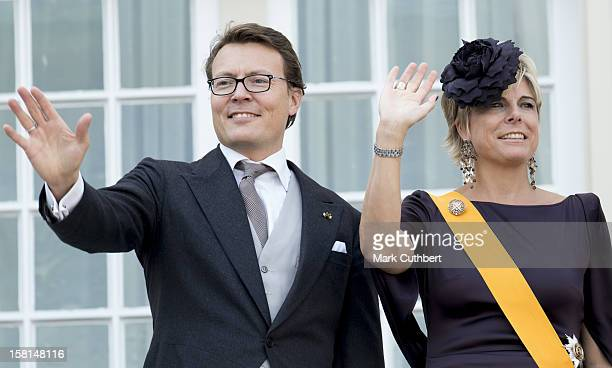 Prince Constantijn Of The Netherlands And Princess Laurentien Of The Netherlands On The Balcony During Princes Day At The Noordeinde Palace In Den...