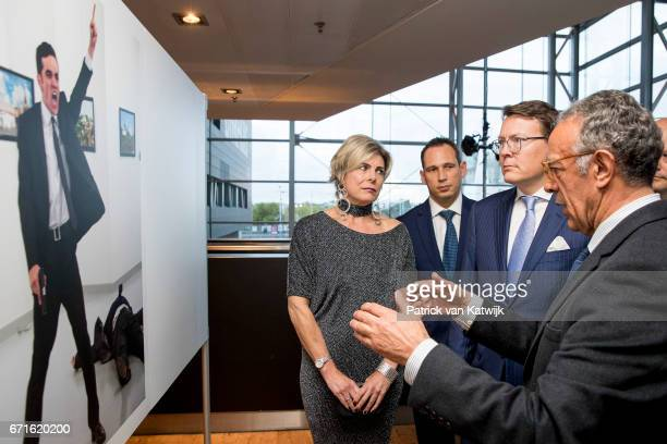 Prince Constantijn of The Netherlands and Princess Laurentien of The Netherlands with Turkish AP photographer Burhan Ozbilici talking about the World...