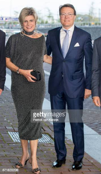 Prince Constantijn of The Netherlands and Princess Laurentien of The Netherlands arrive at the Muziekgebouw Aan't IJ for the World Press Photo Award...