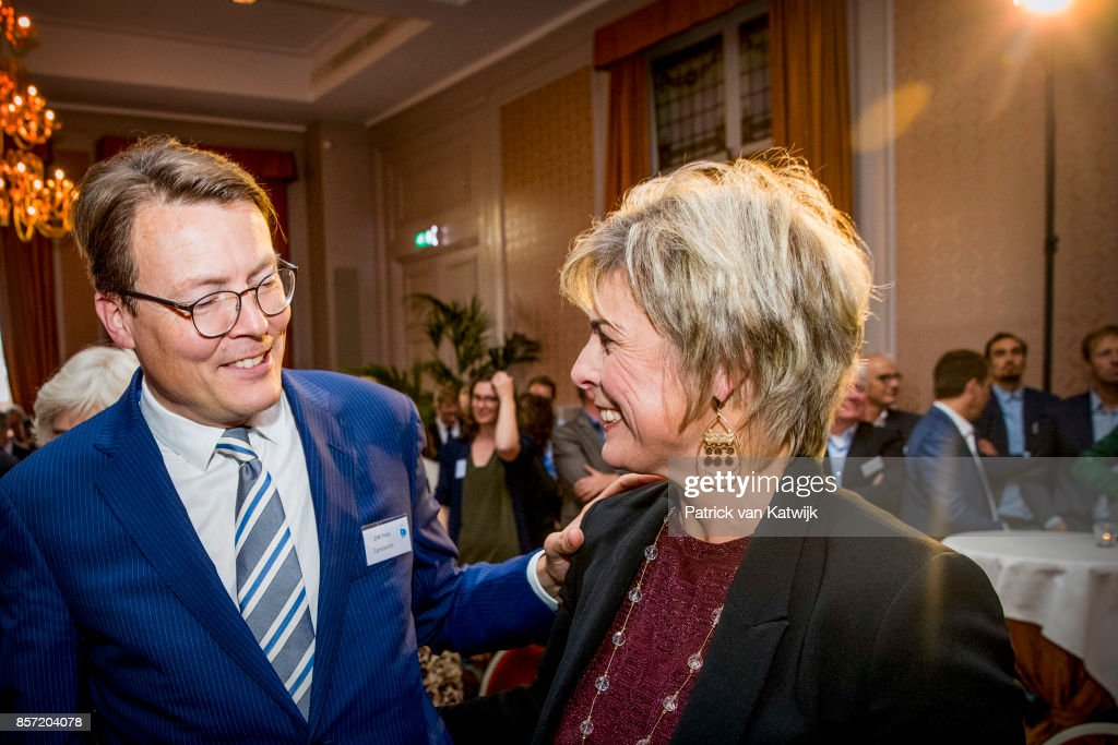 Prince Constantijn of The Netherlands and Prinsess Laurentien of The Netherlands during the award ceremony of the most influential player in the Dutch philanthropy 2017-2018 organized by De Dikke Blauwe in Societeit de Witte on October 3, 2017 in The Hague, Netherlands. Princess Laurentien is founder of the Missing Chapter foundation that gives children a voice in social issues.