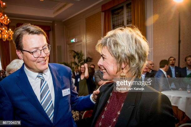 Prince Constantijn of The Netherlands and Prinsess Laurentien of The Netherlands during the award ceremony of the most influential player in the...
