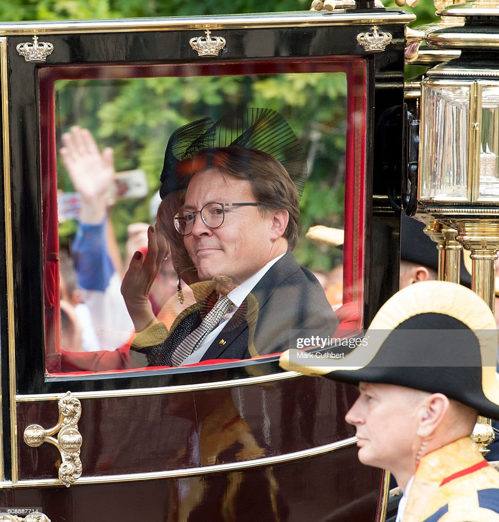 Prince Constantijn of the Netherlands in a royal carriage at The Noordeinde Palace during Princes Day on September 20, 2016 in The Hague, Netherlands.