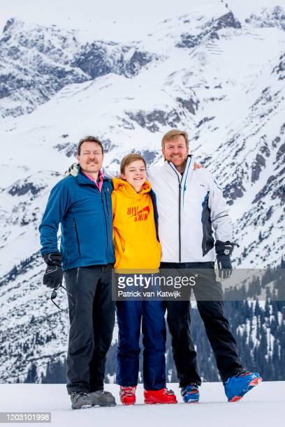 Prince Constantijn of The Netherlands, King Willem-Alexander of The Netherlands and Count Claus-Casimir of The Netherlands during the annual photo...