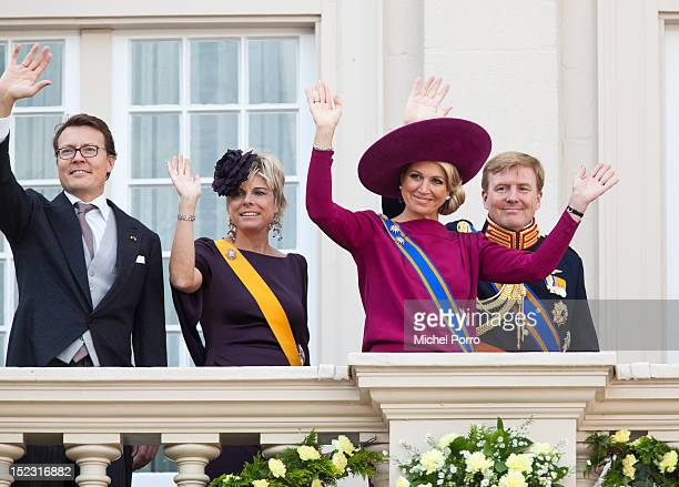 Prince Constantijn of the Netherlands, Princess Laurentien of the Netherlands, Crown Prince Willem Alexander and Princess Maxima of The Netherlands...