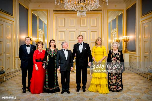 Prince Constantijn of The Netherlands Princess Margriet of the Netherlands Queen Rania of Jordan King Abdullah of Jordan King WillemAlexander of the...